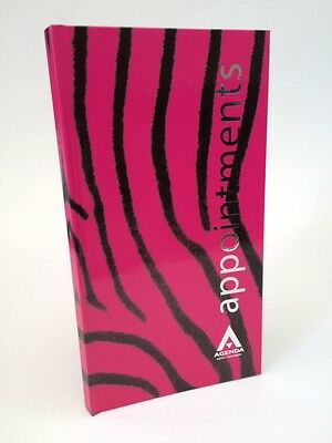 Agenda 3 Column Appointment Book - Pink Zebra - Salons, Hair, Beauty Etc .. • 11.95£