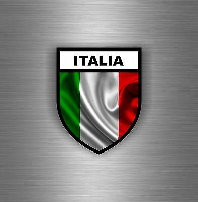 Sticker Car Moto Biker Flag Decal Shield Italy Military Airsoft Tuning Italian • 2.45£