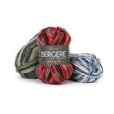 Bergere De France Goomy Yarn- Wool Poly Blend- From France Jacquard Print! • 5.67£