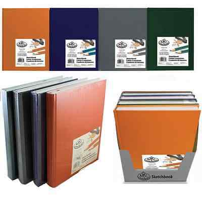 PREMIUM A4 A5 HARDBACK ARTIST SKETCH DRAWING BOOK PADS 220 PAGES 110gsm PAPER • 7.95£