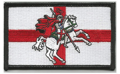 Embroidered  ENGLAND PATCH With St George • 4.98£