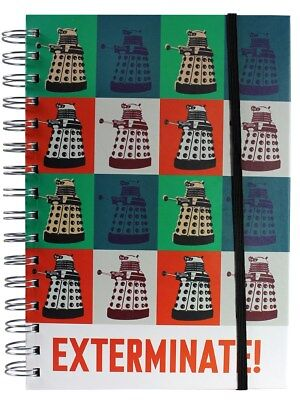 Doctor Who A5 Dalek Exterminate Notebook - Spiral-bound With Band Closure - NEW • 6.99£