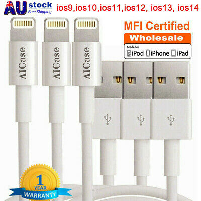 AU8.39 • Buy MFI Certified Charger USB Data Lightning Cable For IPhone 13 12 11 XR 8 7 6 Plus