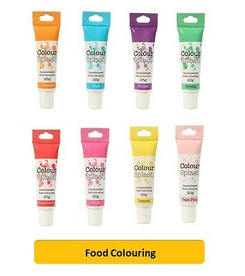 Culpitt COLOUR SPLASH GEL - Food Colouring Concentrated Paste Fondant (25g Tube) • 2.85£