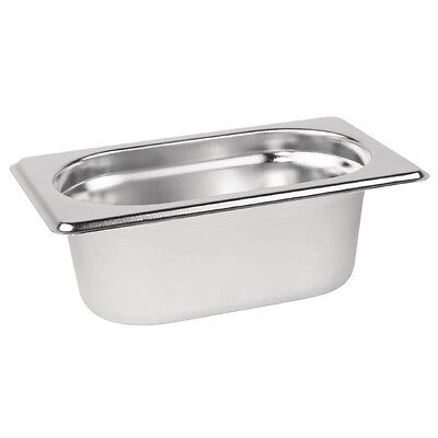 £4.12 • Buy Gastronorm 1/9 Stainless Steel Containers Bain Marie Food Pan FREE DELIVERY