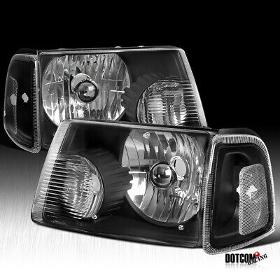 $68.99 • Buy For 2001-2011 Ford Ranger Headlights+Corner Black Signal Lamps Corner Lights