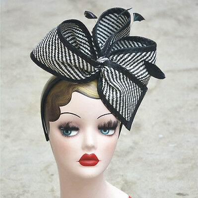 AU19.91 • Buy Womens Sinamay Fascinator Cocktail Hat Wedding Church Party Kentucky Derby T163