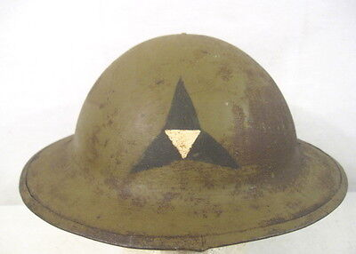 $189.99 • Buy WWI US Army AEF M1917 Helmet Shell W/Hand Painted - Third III Corps Emblem RARE