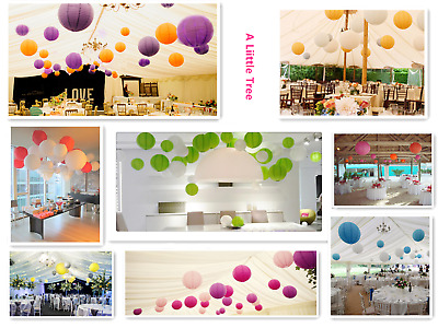 £11.99 • Buy Mixed SIZE New Round Paper Lanterns Lamp Shade Wedding Birthday Party Events