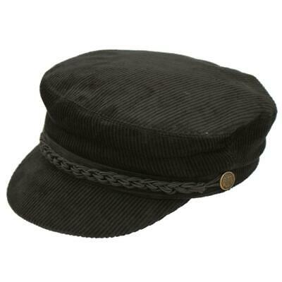 Barge Cord Cap, Fully Lined, Fishermans Boating Cap, Brown, Black Or Navy • 19.99£