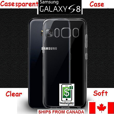 $ CDN0.99 • Buy Samsung Galaxy S8 Clear Case - Soft Transparent Slim Silicon Case Cover