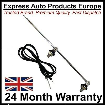 £22.12 • Buy Aerial Twin Mount Telescopic Chrome Classic Cars Vintage VW 111999900
