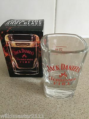 Rare Jack Daniels Tennessee Fire Shot Glass Uk Edition  In Box • 6.50£