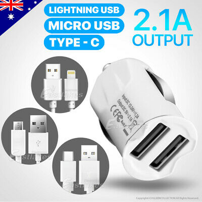 AU7.99 • Buy RAPID USB Car Charger For IPhone 12 11 Pro Max MFi Cable Samsung S21 S20 S10 S9
