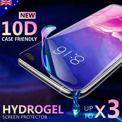 AU6.95 • Buy HYDROGEL Screen Protector Samsung Galaxy S10 S20 S9 S8 Plus Note 20 10 9 S7 Edge