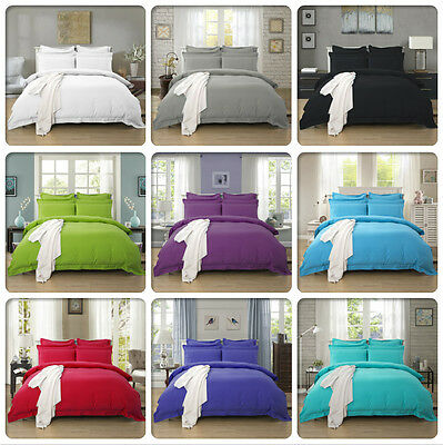AU39.99 • Buy Tailored 1000TC Duvet/Doona/Quilt Cover Set Doubl/Queen/King/Super King Size Bed