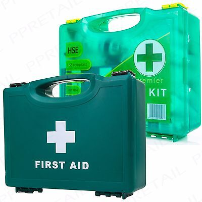 £15.21 • Buy SMALL HSE FIRST AID HARD BOX Wall Mounted Pack 1-10 Person Warehouse/Office Kit