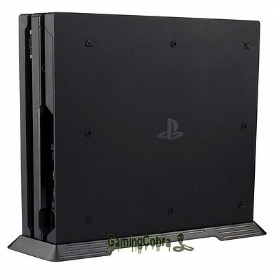 AU16.76 • Buy Vertical Stand Dock Mount Cradle Holder For Sony PS4 Pro Game Console Black