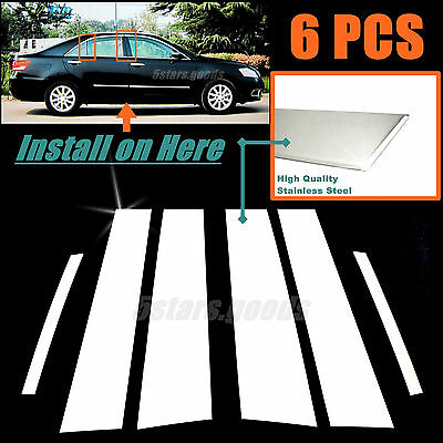 $28 • Buy Stainless Steel Chrome Door Pillar Posts Covers Trims For Toyota Camry 2007-2011