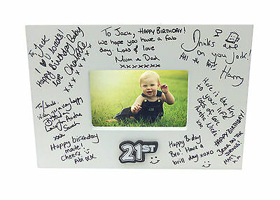 £15.95 • Buy Birthday Photo Frame With Pen - Landmark Sign It - Special Occasion Party Gift