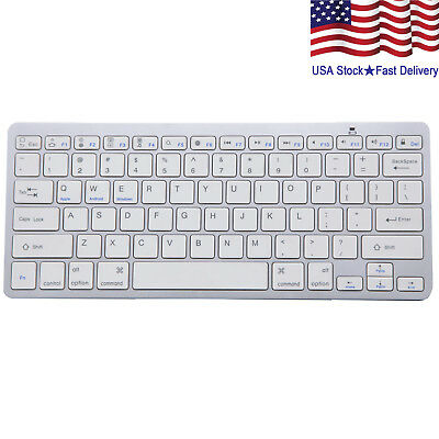 $12.99 • Buy Wireless Bluetooth V3.0 Slim Keyboard For PC IOS IPads Android Macs NEW