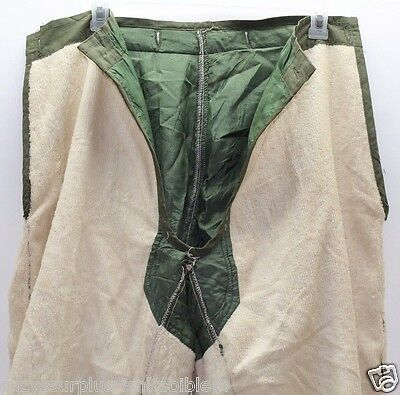 $35.99 • Buy US M1951 Od White Terry Wool Arctic Trouser Liner Size Small Regular Used M7698