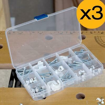 3x 15 Compartment Plastic Storage Box Jewellery Earring Beads Case Container • 3.19£