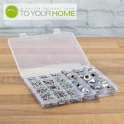 24 Compartment Plastic Storage Box Jewellery Earring Beads Case Container • 1.99£
