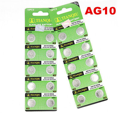 AU3.99 • Buy New 10pcs AG10 LR1130 389 LR54 L1131 189 Button Cell Coin Battery Wholesale