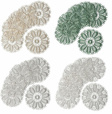 £3.89 • Buy Pack Of 6 Floral Lace Round Doilies Coasters Traditional Home Table Mat Doyleys