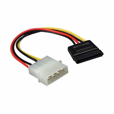 £3.46 • Buy 6 Inch Molex To SATA Male-Female Power Cable Cord Connector Internal For PC HDD