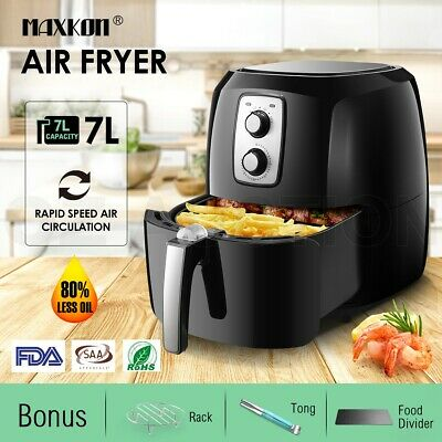 AU94.95 • Buy 1800W Maxkon 7L Electric Air Fryer Turbo Oven Deep Cooker 80% Less Oil W/Recipes