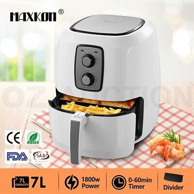 AU99.95 • Buy Maxkon 7L Air Fryer Turbo Oven Deep Fryer Cooker  Healthy Low Fat Oil W/Recipes