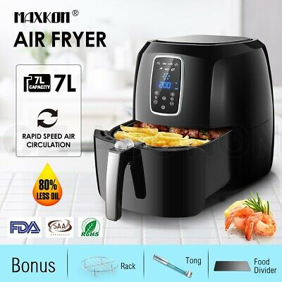 AU119.95 • Buy Maxkon 7L  Air Fryer Digital Turbo Cooker Low Fat Oil LCD Display W/Bonus 1800W