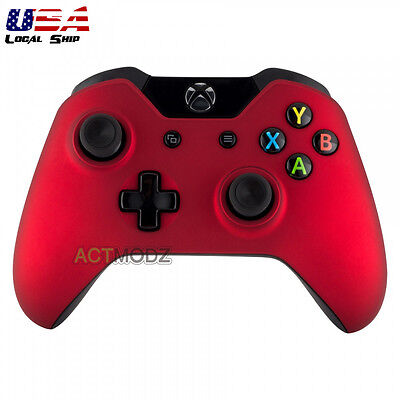 $12.99 • Buy Soft Touch Red Front Housing Shell Faceplate Case Cover For Xbox One Controller