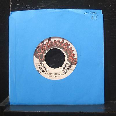 Big Youth - All Nation Bow 7  VG+ Techniques Jamaica Vinyl 45 • 5.43£