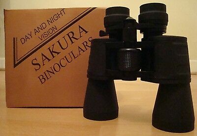 Sakura Powerful Binoculars 10-70 X 50 Crystal Clear Sharp Image Day & Night • 25.99£