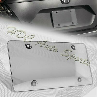 $4.99 • Buy 1 X Tinted Clear/Smoke Protector License Plate Frame Shield Cover Front & Rear