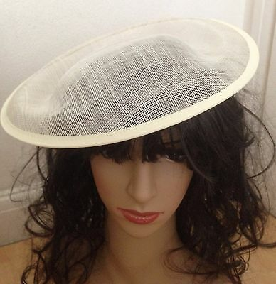 £15.15 • Buy Hat Sinamay Dipped  Base 30 Cm Great For Making Fascinators Party Hats