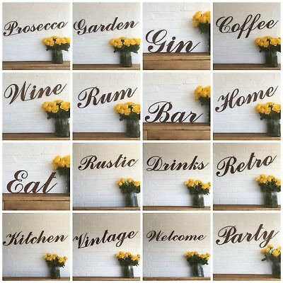 Rusty WORDS Lettering Letters Sign Metal Shop Front Home Bar Pub Man Cave Cafe  • 39.99£