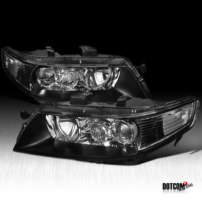 $156.99 • Buy Fit 2004-2005 04-05 Acura TSX Black Housing Projector HeadLights Lamps Pair