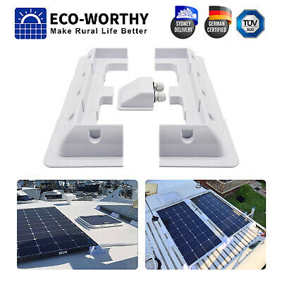 AU13.99 • Buy Solar Panel RV Mounting Brackets Corner & Cable Entry For Caravan Boat Vehicle