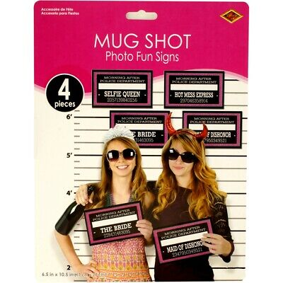 AU13.50 • Buy Photo Booth Props Mug Shots Wedding Hens Night Bachelorette Party Funny Signs