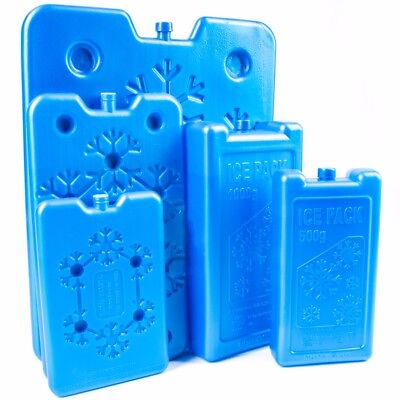 SMALL - LARGE ICE BLOCK/BOARD FREEZER PACKS Travel Cooler/Chill Bag/Lunch Box • 7.21£