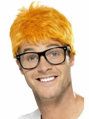 AU28.95 • Buy 1990's TV Host Kit Ginger Wig And Glasses Evans Funny Fancy Dress Accessory