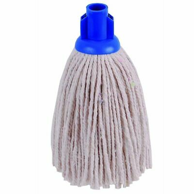 £6.29 • Buy Heavy Duty Replacement Cotton Floor Mop Head Screw Socket Type Blue Colour Coded