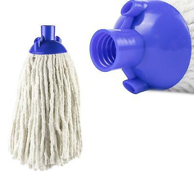 £4.49 • Buy Heavy Duty Replacement Cotton Floor Mop Head Screw Socket Type Blue Colour Coded