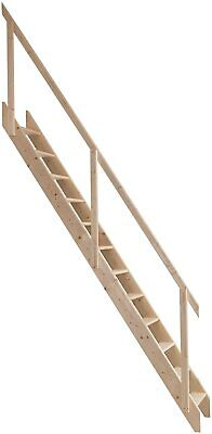 £184.98 • Buy Space Saving Staircase - Wooden Wood Saver Stairs Loft Stair Ladder - 2.83m
