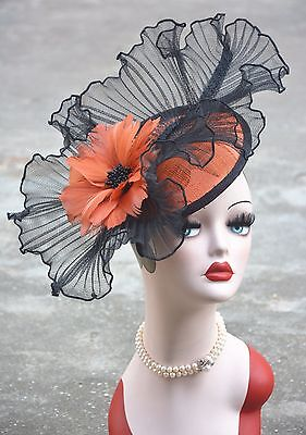 AU24.89 • Buy Womens Sinamay Fascinator Feather Cocktail Hat Wedding Church Tea Party A325