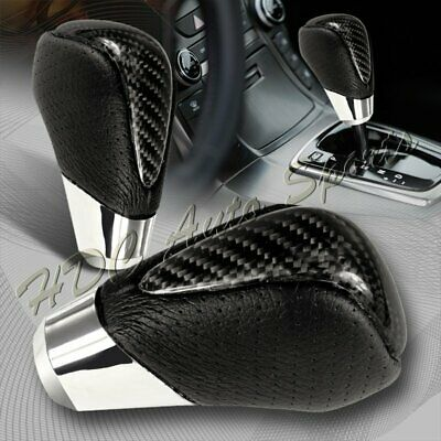 $18.99 • Buy Real Carbon Fiber PVC Leather VIP Type-2 Manual MT Shift Shifter Knob Universal